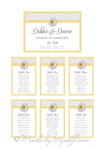 Daisy Table Plan